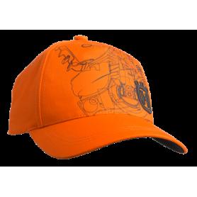 Cappellino Xplorer con stampa motosega Pioneer saw arancione