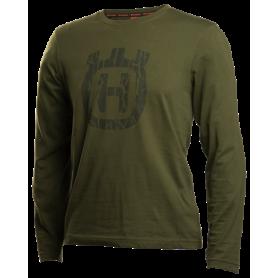 Xplorer T-shirt maniche lunghe con motivo camouflage a corteccia